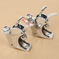Chrome 41mm Windshield Windscreen Clamps For Harley Dyna Sportster XL 883 1200