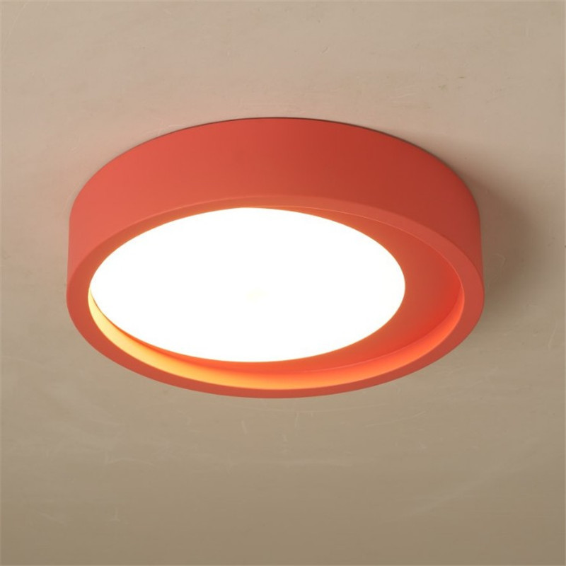 Modern Round Ceiling Lights Led Lamp Fixture Kids Room Ceiling Surface Mounted Lamp For Bedroom Dining Living Room Kitchen new surface mounted led ceiling lights wood modern light fixtures for living room dining room bedroom led ceiling lamp 220v