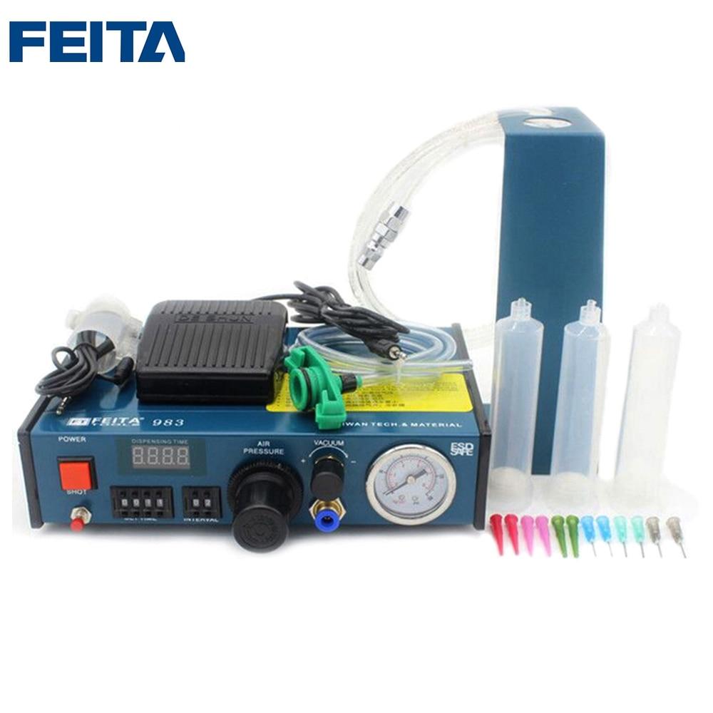 FEITA FT-983 Digital Automatic Glue Dispenser / Automatic Glue Equipment / Automatic Glue Dispensing Machinery automatic spanish snacks automatic latin fruit machines