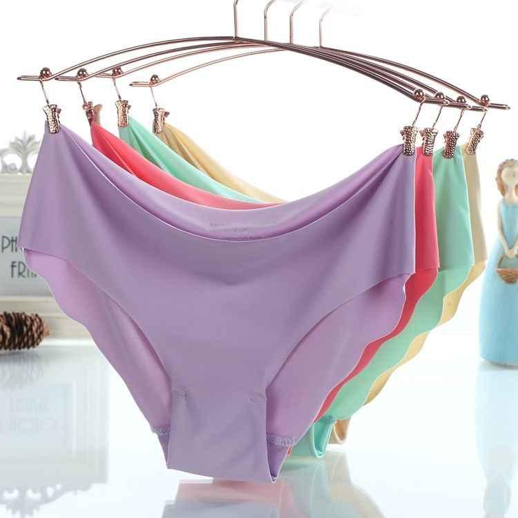Wanita Seksi Es Touth Perasaan Celana Dalam Seamless Lembut Pakaian Dalam Wanita Ulasan Modal Pakaian Dalam Celana Cepat Kering Briefs10 Warna