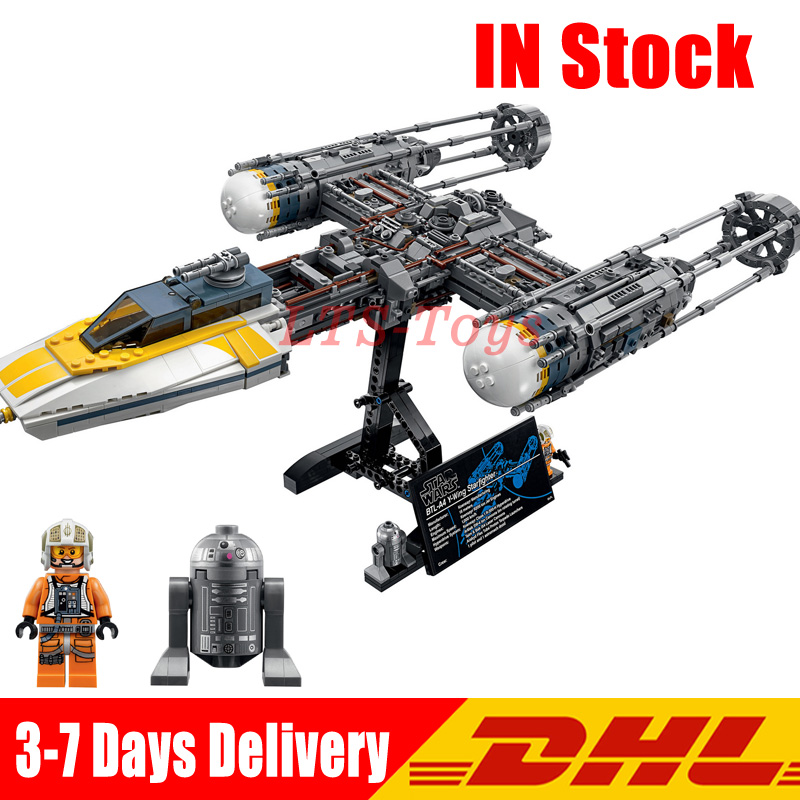 Lepin 05143 2203Pcs Star Series Wars The New Y-wing Starfighter Set Model Building Blocks Bricks Toys Compatible Legoingly 75181 new 1685pcs lepin 05036 1685pcs star series tie building fighter educational blocks bricks toys compatible with 75095 wars