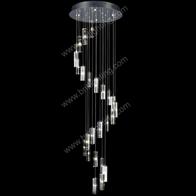 Chandelier Led Modern Living Room Lamps Crystal Lamp Stairway Lighting Long Spiral Chandeliers