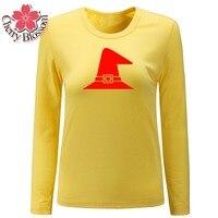 Cherry Blossom Women T Shirts Punk Style Letter Print Tee Shirt Femme Harajuku Wizard S Hat