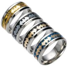 Mujeres anillos hombres 2016 accesorios de moda batman anillo de acero titanium de acero inoxidable joyas señor de los anillos anillos mujer