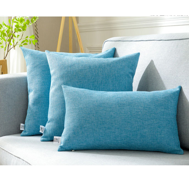 Solid sofa cushion cover 30x50/40x40/45x45/40x60/<font><b>50x50</b></font>/55x55/60x60cm decorative throw <font><b>pillow</b></font> <font><b>case</b></font> cover for car seat chair decor image