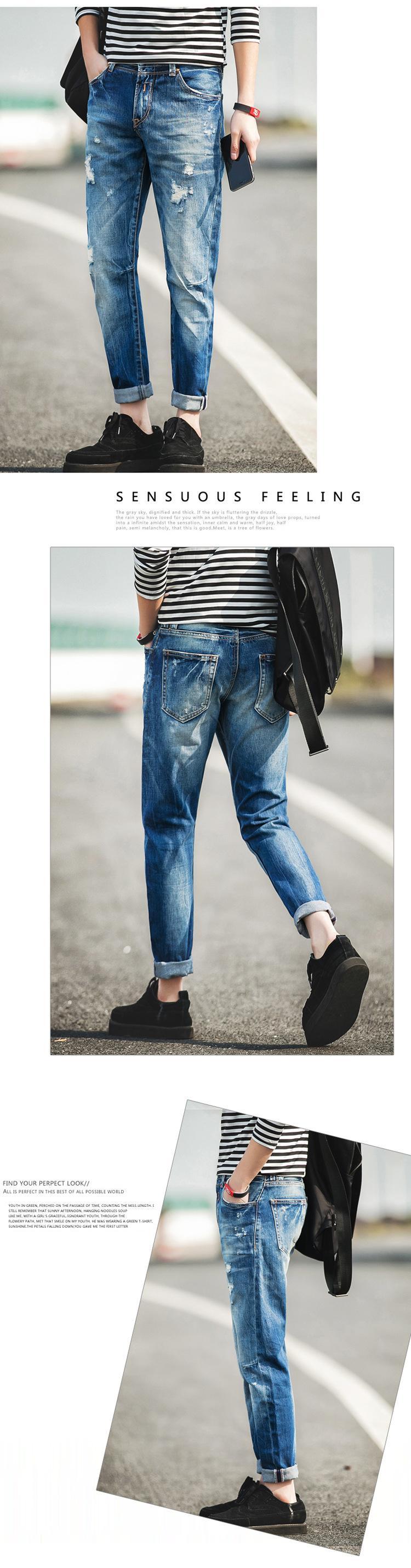 4c3894d6a 2016 El Más Nuevo Diseño De Jeans Para Hombre Famosa Marca Ripped Motorista  Hombres Pantalones Vaqueros del Resorte Pantalones Muchacho de La Manera ...