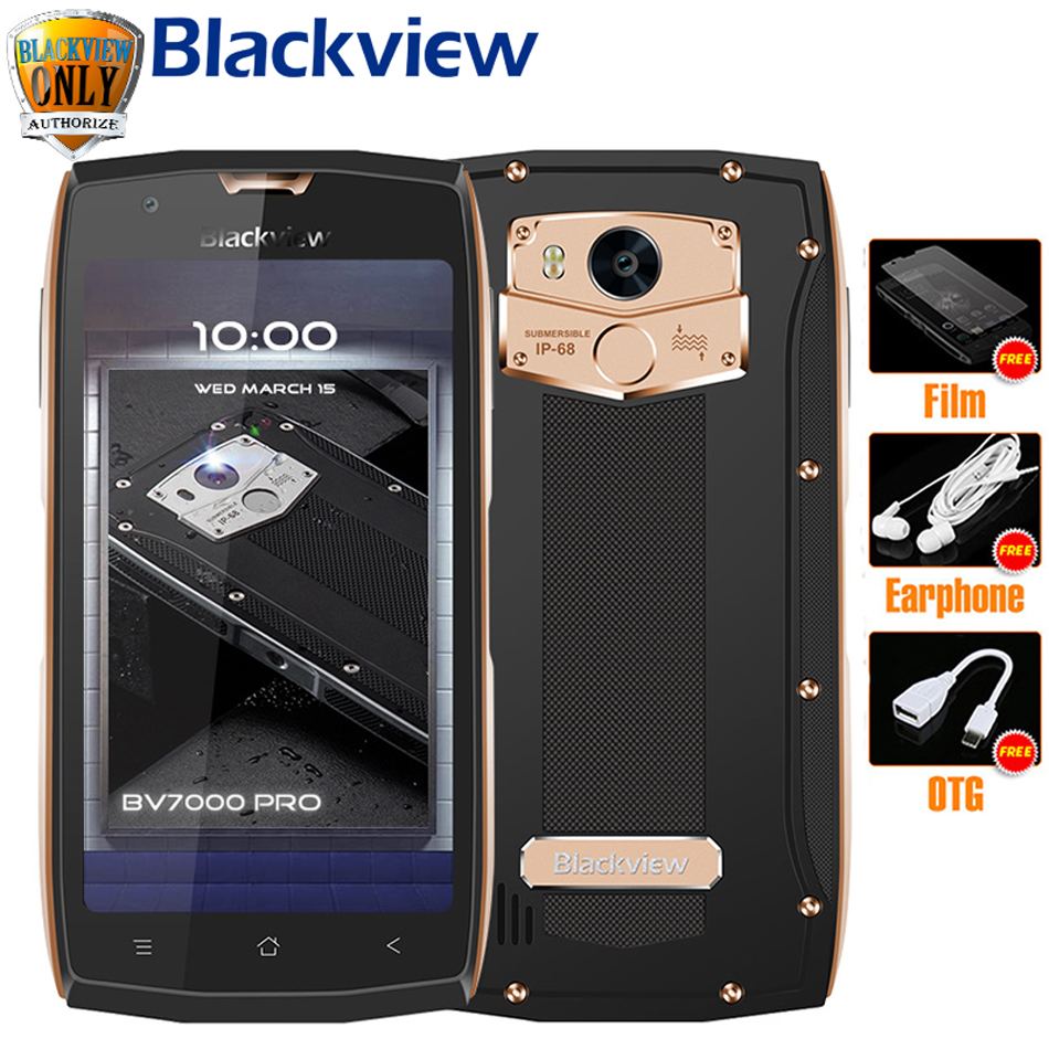 Blackview <font><b>BV7000</b></font> Pro Mobile Phone <font><b>IP68</b></font> Waterproof MT6750T Octa Core 5.0&#8243; FHD 4GB 64GB Fingerprint Glonass Dust proof <font><b>Smartphone</b></font>