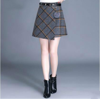 2018 autumn and winter Fashion casual sexy plaid female women girls Mini skirts clothes