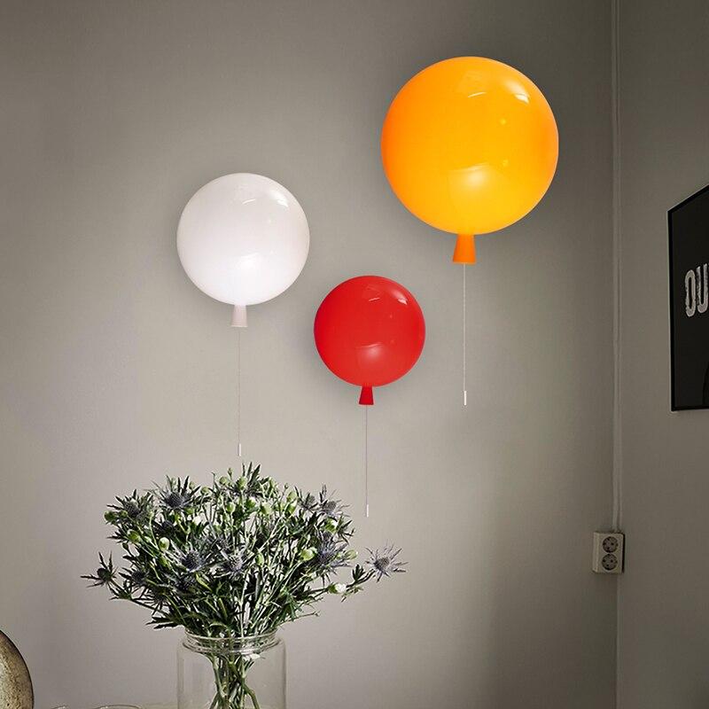 Ballon Lampen Kinder Wandleuchten Zugschalter Schlafzimmer Nacht ...