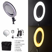 10'' QS 280II 95RA Bicolor LED Ring Selfie Lights For Reading Learning Making up beauty led ring lamp ring light.