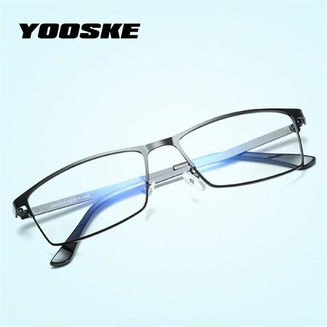 c017dd33bd YOOSKE Men Bussiness Optical Glasses Frame Blue Light Filter Computer  Eyeglasses Anti Radiation Goggles Spectacle frames