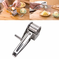 Stainless Steel Classic Rotary Cheese Grater Fondue Chocolate Baking Kitchen Cheese Tools