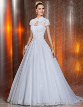 Free Shipping Fashionable Bride Dress Puffy Ball Gown Strapless Sweep Train Factory Made Wedding Dress With Jacket VP035