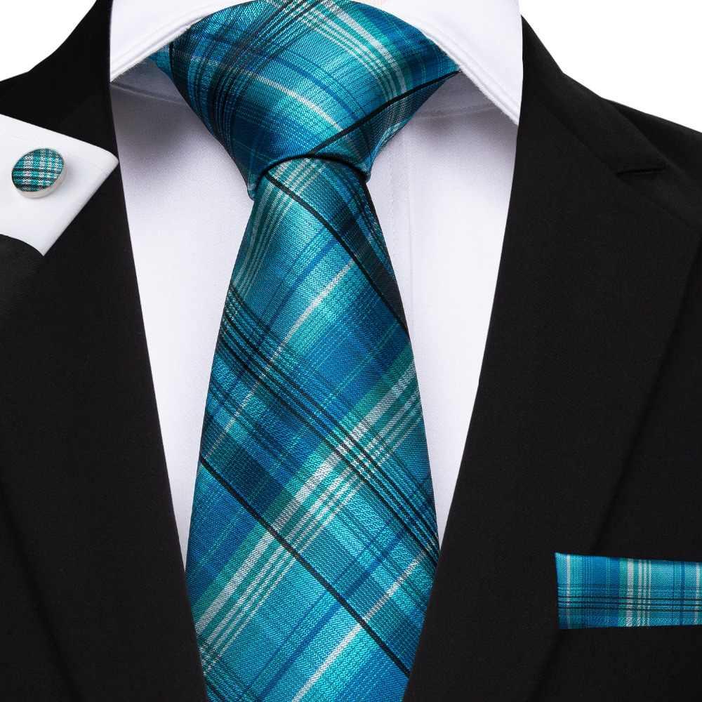 1445b61ac0b5 Wang 20 Style Plaids Mens Ties For Men Necktie Hanky Cufflinks Fashion Silk  8cm