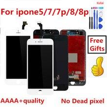 מושלם 3D מגע כיתה AAAA עבור iPhone 7 LCD מסך Diaplay LCD מגע Pantalla 100% לא מת פיקסל עבור iPhone7 בתוספת 8G 8 P LCD