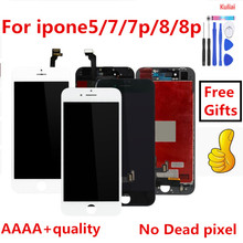 Perfeito 3D Toque Grau AAAA Para iPhone Tela 7 LCD Diaplay LCD Touch Pantalla 100% Nenhum Pixel Morto Para iPhone7 além de 8G 8 P LCD