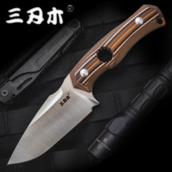 Sanrenmu S725P Fixed Blade Knife 14C28N With Sheath Outdoor Camping Survival Tactical Hunting Knife Edc Combat Tool Cutter Best