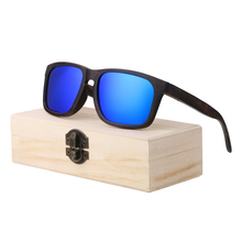 BerWer Ebony Wooden Sunglasses Men Brand Design Polarized Sun Glasses With Gift case