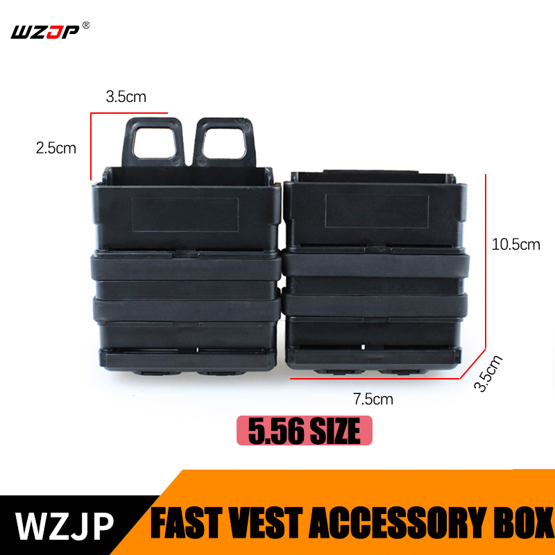 Painstaking Wzjp Tactical Airsoft Fast Mag Vest Accessory Box Fast Magazine Case Set Molle Mag Clip 5.56 Fast Mag Magazine Pouch Case Shrink-Proof Shooting