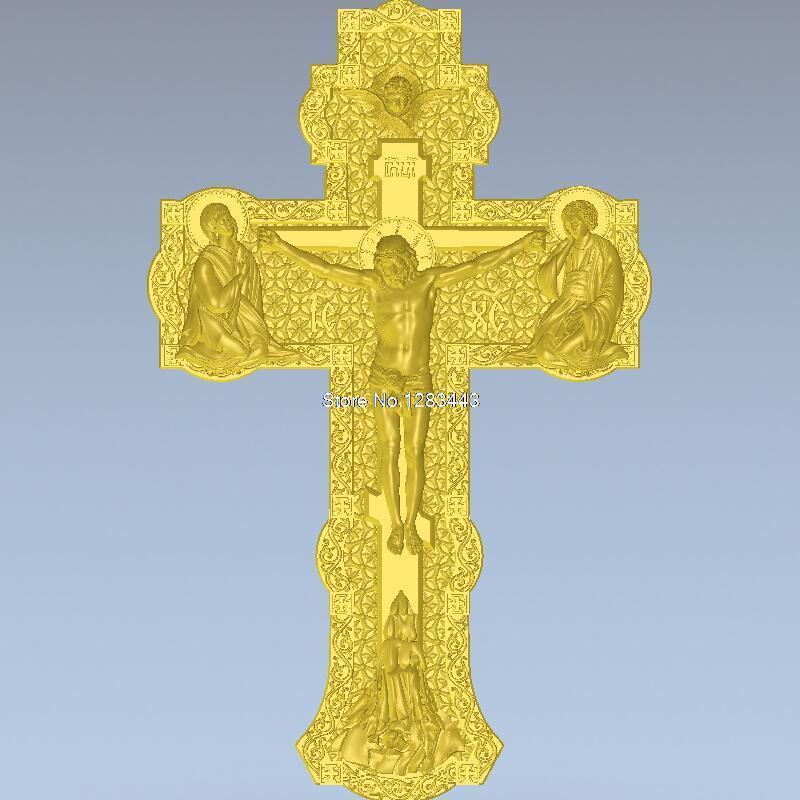 High Quality New 3D Model For Cnc 3D Carved Figure Sculpture Machine In STL File Cross Of Jesus