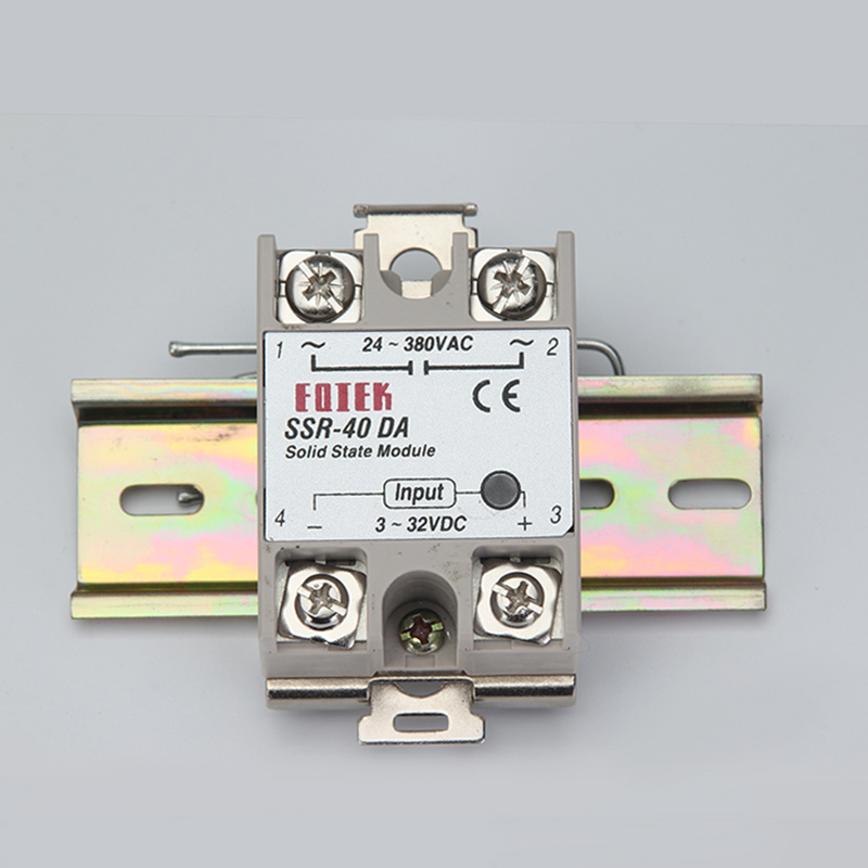 single phase SSR 40DA 25DA AA DD 35MM DIN rail fixed solid state relay clip clamp with 2 mounting screws ssr 40da single phase solid state relay white silver