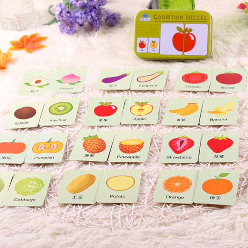 2017 Infant Baby Card Matching Jigsaw Puzzle Cognitive Learning Early Education Toy MAR1 30