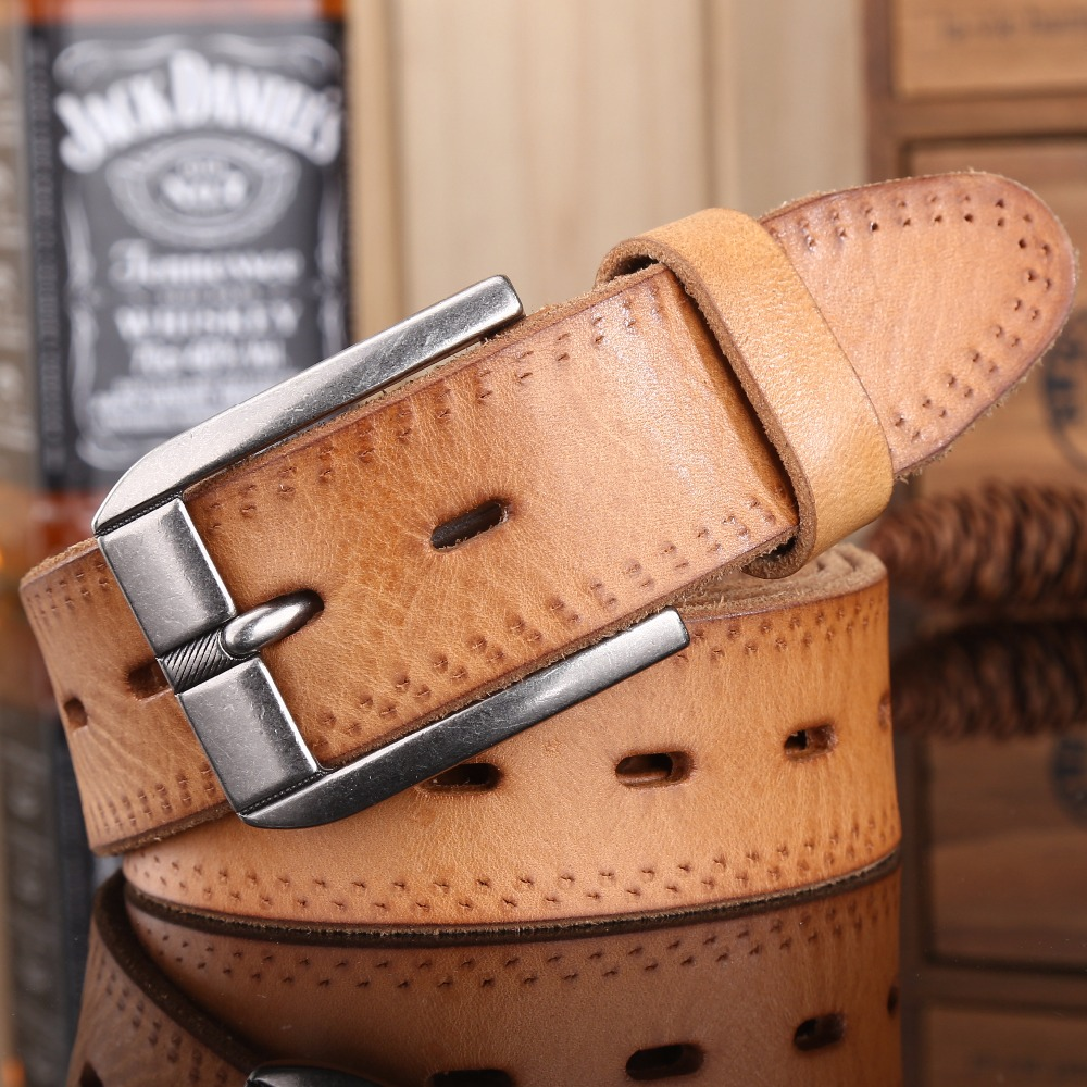2017 new arrival Mens Belts luxury Woman Full Grain Genuine Leather Top Quality cowboy Strap Fashion