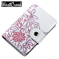 Fashion split leather business card holder cards women leather wallet credit card holder book ID card case floral cardholder