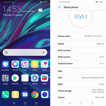 Huawei Enjoy 9 Y7 Pro 2019 Smartphone 6.26 inch Full Screen Snapdragon 450 Octa Core Android 8.1 EMUI 8.2 4000 mAh 13MP Camera 5