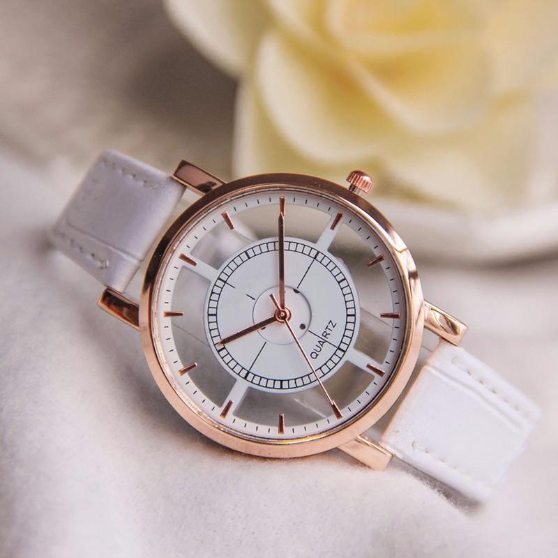Hot sale 2018 Brand watch men women relogio masculino Geneva Roman Numerals relogio feminino women watch Pu Leather Quartz Watch