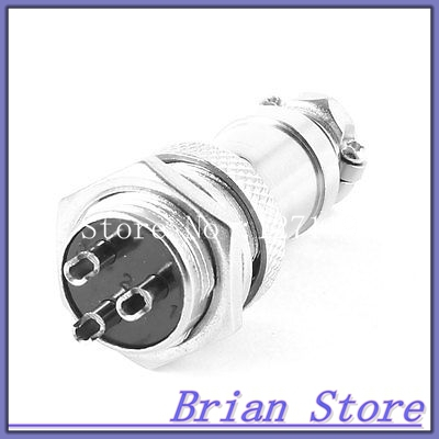 AC 220V 20A GX16 3 Pin Male M16 Wire Panel Aviation Plug Connector