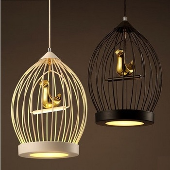 Loft Style Sederhana Kreatif Kandang Droplight Retro LED Pendant Lampu untuk Ruang Makan Lampu Gantung Pencahayaan Dalam Ruangan