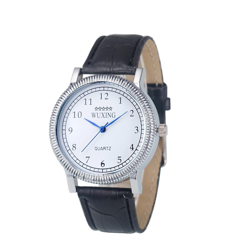 2018 New Mens Womens Ladies Fashion Simple Popular Leather Band Quartz Analog Dress Bracelet Wrist Watch Watches Saat Gifts F80