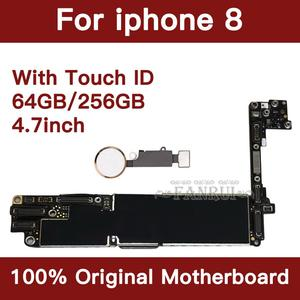 Image 3 - Factory Unlocked 64GB 256GB Completed Motherboard For iPhone 8 4.7inch Original Mainboard With Touch ID IOS Update Support