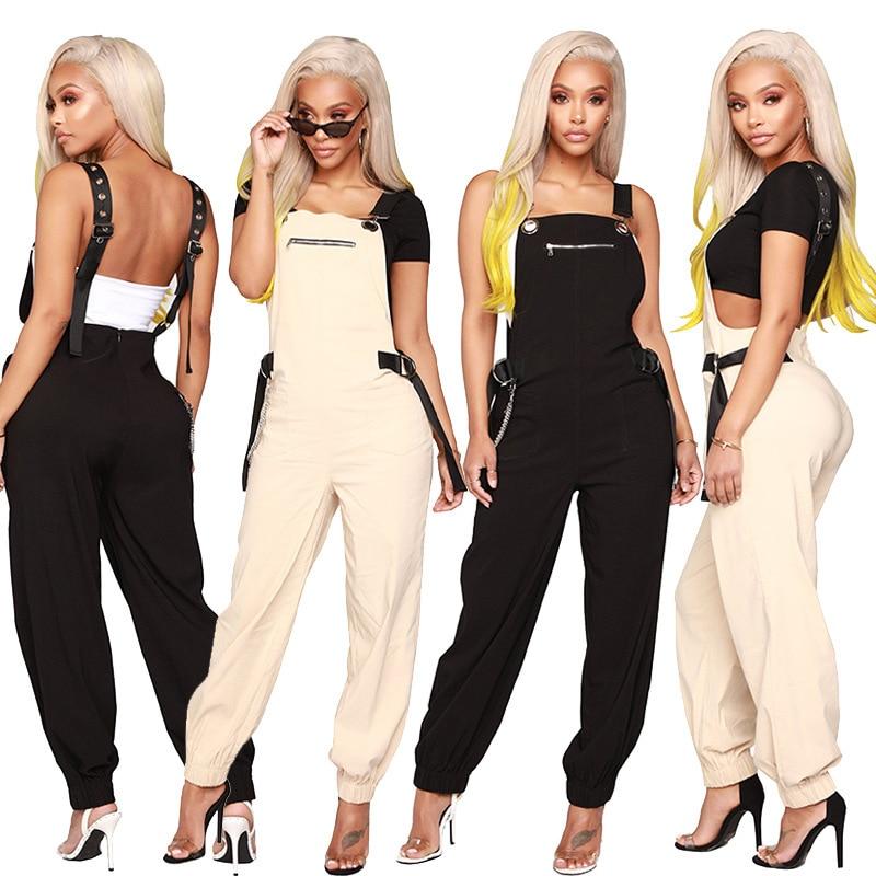 2019 Streetwear Cargo   Pants   Women Casual Joggers Black High Waist Loose Female Trousers Korean Style Ladies   Pants     Capri   XM511