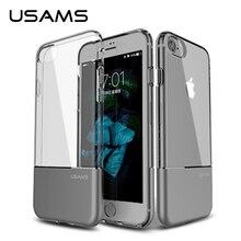 Для iphone 7 и iphone 7 плюс чехол USAMS Легкостью серии Anti-knock ударопрочный Алюминиевый Задняя крышка + Прозрачный Чехол для ТПУ iphone7