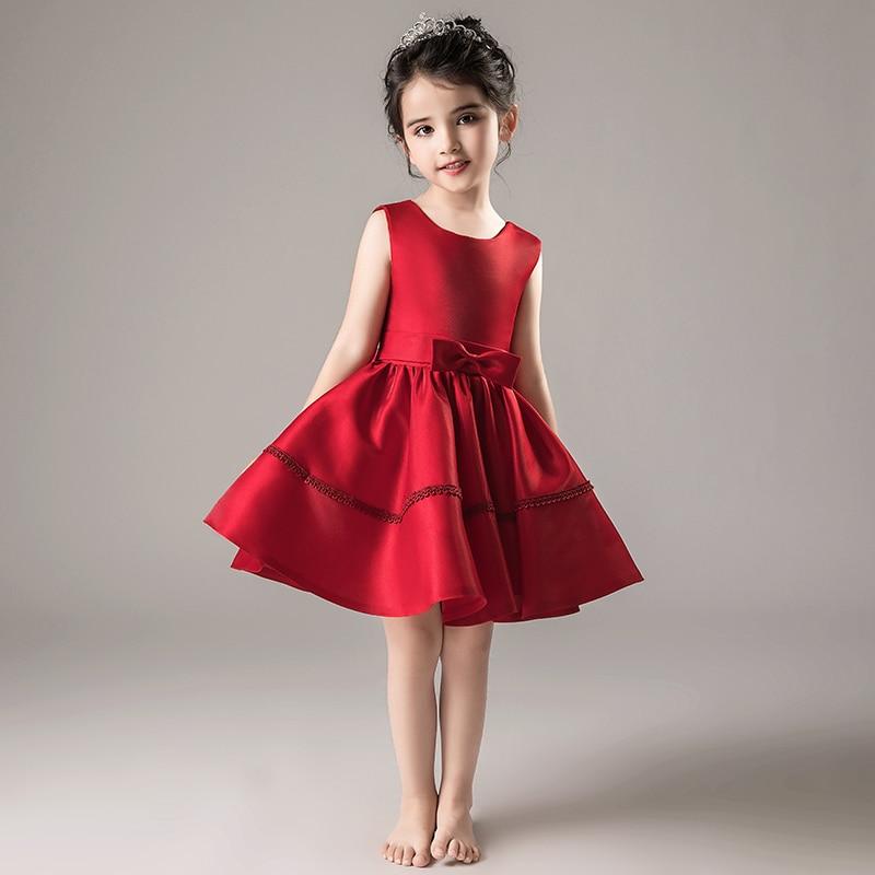 2019 new flower cake tutu kids clothing elegent hand beading girls dresses for children princess party custumes years