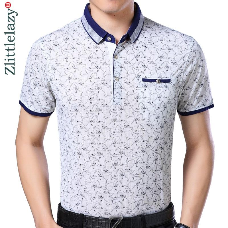 2019 mens clothing short sleeve   polo   shirt summer pol men flower brands   polos   tee shirts dress streetwear male poloshirt 8801
