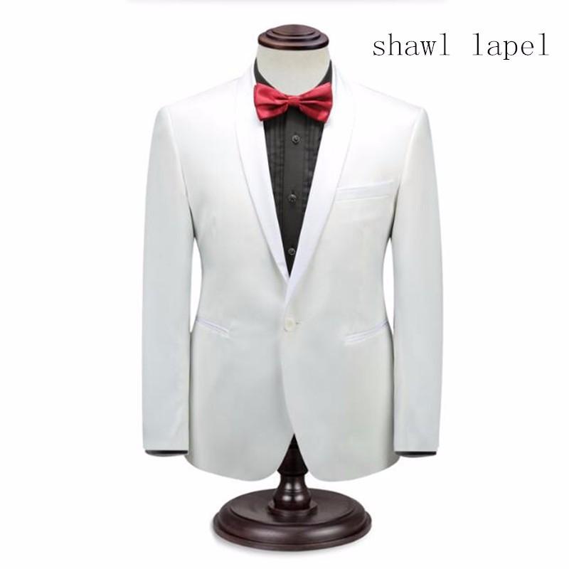 10.1White men suits jacket custom made formal business suits jacket stylish elegant wedding groomsman dress jacket
