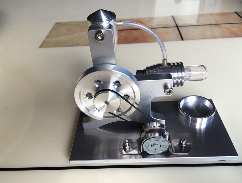 L style Stirling Engine Generator Model External Combustion engine Scientific Experiment Model v4 model stirling engine generator set