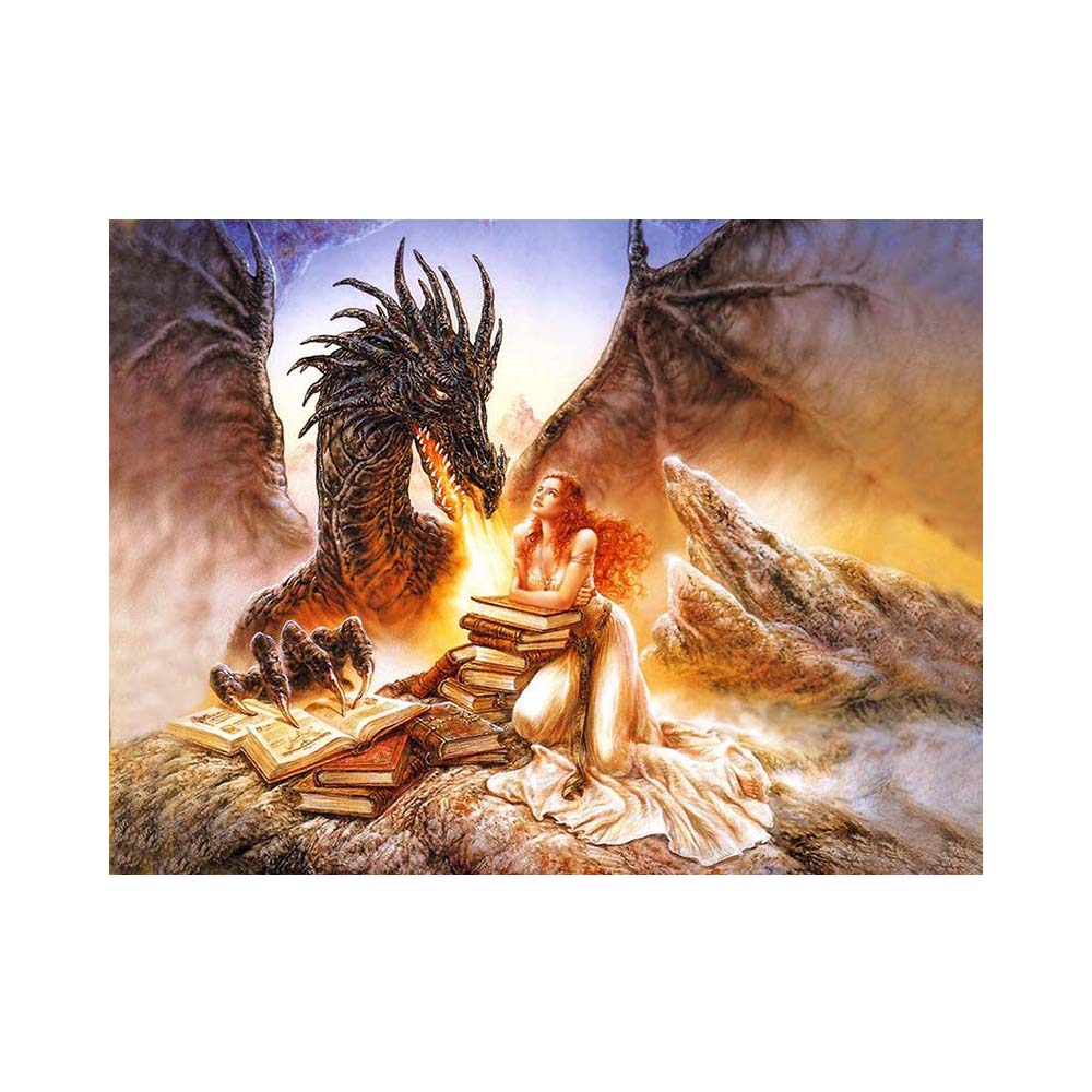 Painted Painting Dragon Diamond Cab Diamond Cross Stitch Embroidery Embroidery Triptych With Crystals Mosaic Kit Home Decor Y235