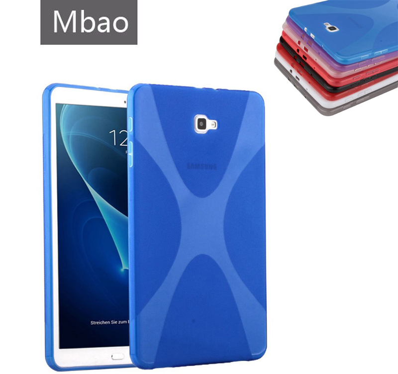X-Line X Soft TPU Silicon Case Semi Transparent Clear Gel Cover Skin Shell Case For Samsung Galaxy Tab A 10.1 (2016) T580 T585 t700 soft tpu rubber cover semi transparent back case for samsung galaxy tab s 8 4 t700 t705c silicone case