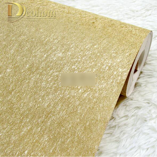 High quality Sliver Gold Solid Color Gold Foil Wallpaper Modern Luxury KTV Entertainment Household Decoration Wall paper R557