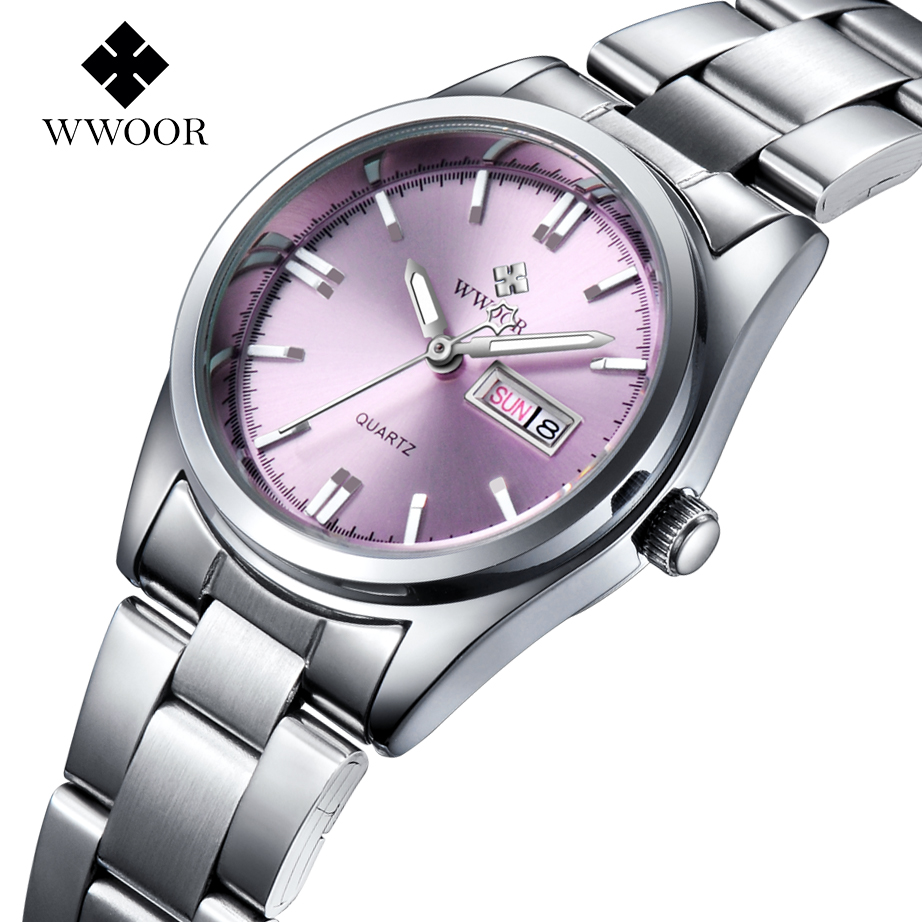Top Brand Women Watches Women Quartz Hour Date Clock Ladies Silver Stainless Steel Fashion Casual Wrist Watch Gift Montre Femme kimio 2017 new women s watches fashion steel bracelet quartz watch montre femme hour clock women top brand