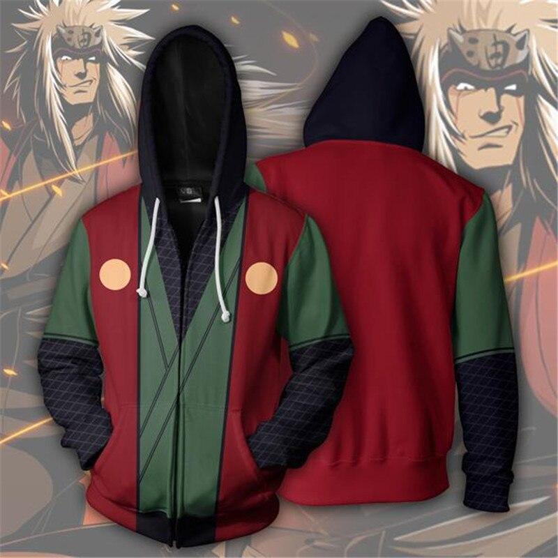 Man Woman Fashion hoodies Naruto3d print zip Hoodies Streetwear Casual Cospaly Sweatshirt Plus Size 5xl