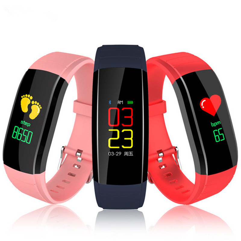 Fitness Tracker Watch Color Screen Smart Wristband Heart Rate Monitor Blood Pressure Monitoring Clock Call Remind Smart Bracelet ogeda sport health smart watch bracelet call information 0 96 inch led color screen heart rate sleep monitoring better than y5