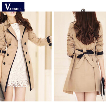 Women Thin Trench Coat  4