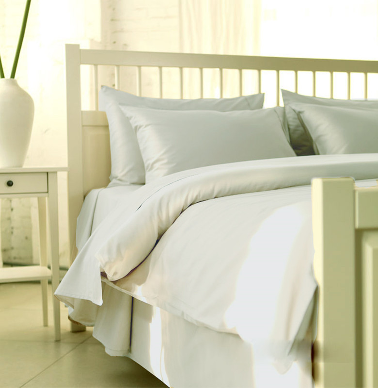 100 egyptian cotton tc bedding set sweden king size ivory light grey color 5 pieces bedding flat sheets customize - 100 Egyptian Cotton Sheets