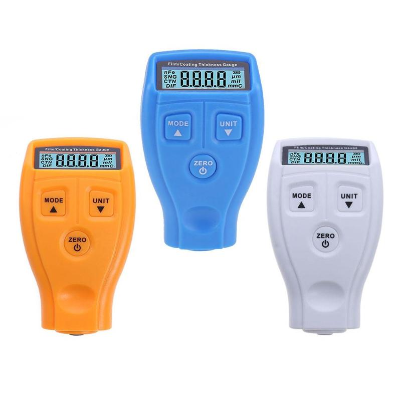 Russian English Manual GM200 Coating Painting Thickness Gauge Tester Ultrasonic Film Mini Car Coating Paint Gauge 3 Colours