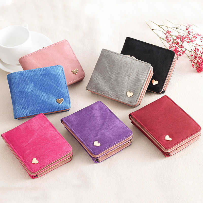 Women Wallet Purse Female Bifold Canvas Coin Card Pouch New Style Look Hot Sale Trendy Stylish Special Designer